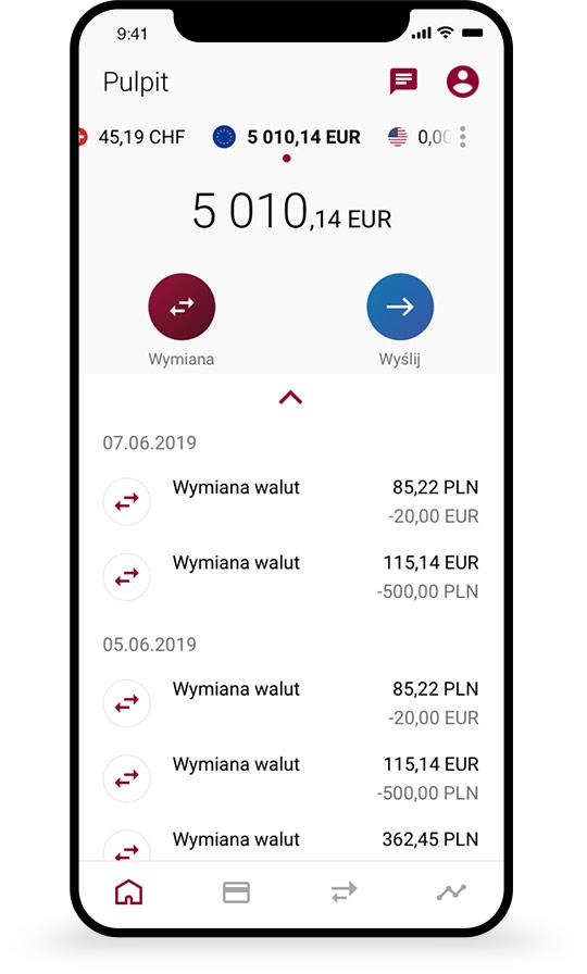7106788d5c8fcf Aplikacja mobilna - Kantor Walutowy Alior Banku - Wymiana walut ...